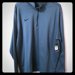 Nike Dri-Fit 1/4 Zip Pullover Top Forest Green XL